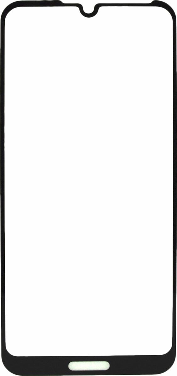 Защитное стекло Brosco 2.5D для Huawei Y6, черный