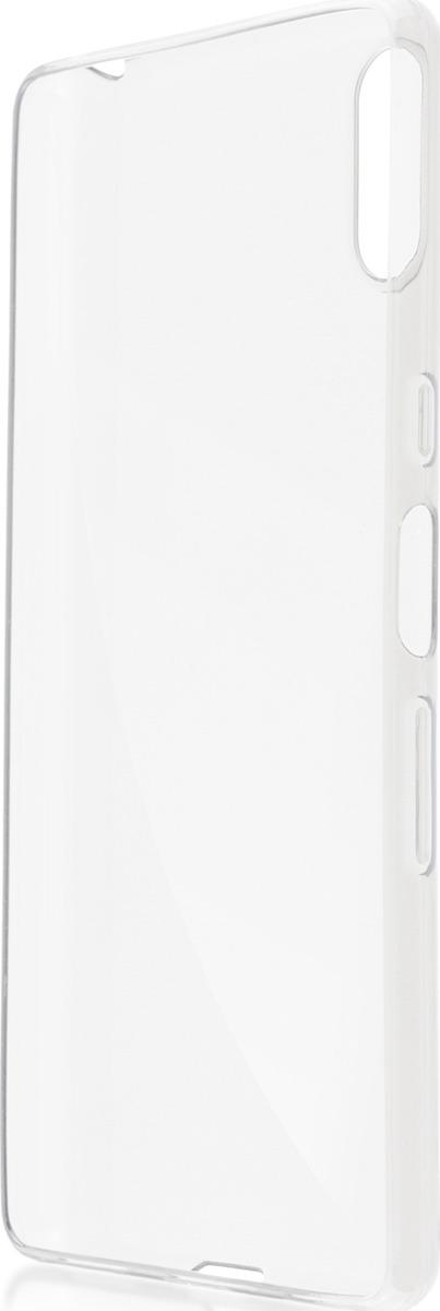 Чехол-накладка Brosco для Sony L3, прозрачный