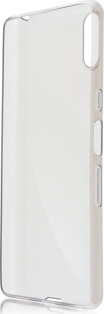 Чехол-накладка Brosco для Sony L3, черный чехол для sony i4213 xperia 10 plus brosco силиконовая накладка черный