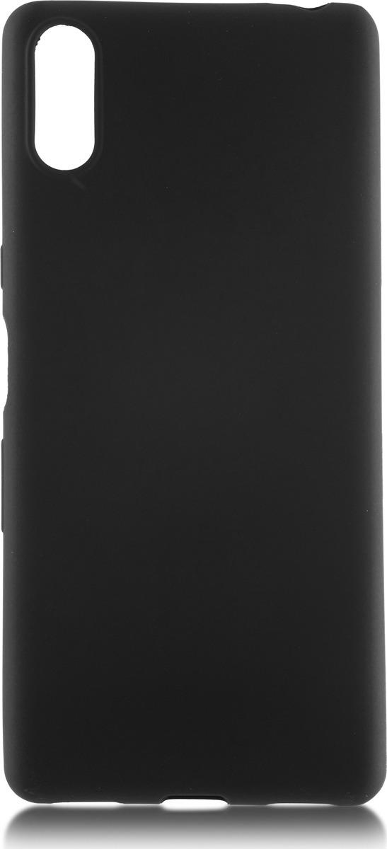 Чехол-накладка Brosco Colourful для Sony L3, черный чехол для sony i4312 xperia l3 brosco силиконовая накладка черный