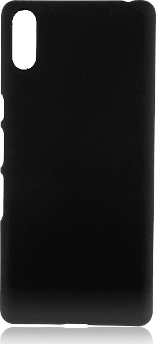 Чехол-накладка Brosco двухсторонний Soft-touch для Sony L3, черный чехол для sony i4213 xperia 10 plus brosco силиконовая накладка черный