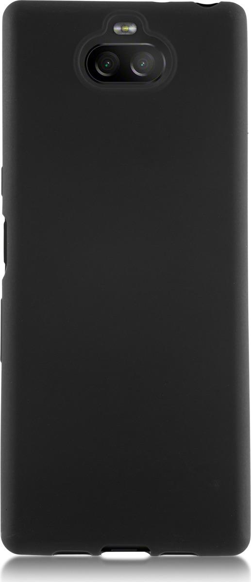 Чехол-накладка Brosco Colourful для Sony Xperia 10, черный чехол для sony i4312 xperia l3 brosco силиконовая накладка черный