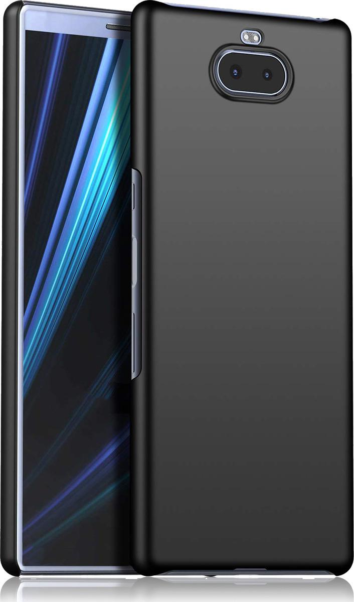 Чехол-накладка Brosco двухсторонний Soft-touch для Sony Xperia 10 Plus, черный чехол для sony i4213 xperia 10 plus brosco силиконовая накладка черный
