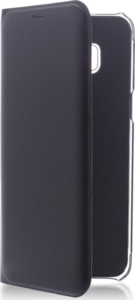 Чехол-книжка Brosco для Samsung S8, черный супер тонкий чехол книжка brosco книжка pu белая