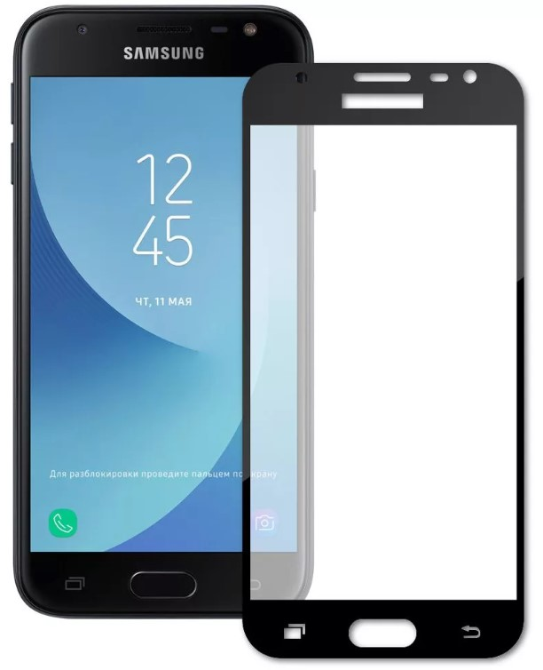 Защитное стекло TFN Samsung Galaxy J3 2017 защитное стекло для samsung galaxy s9 sm g960 onext 3d изогнутое по форме дисплея с черной рамкой