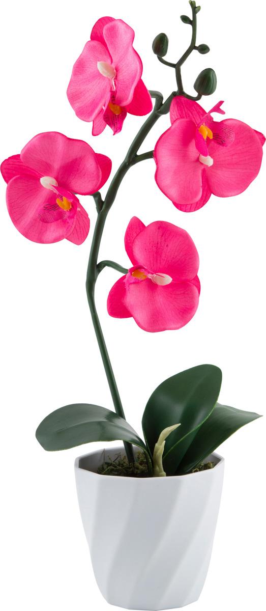 Цветы искусственные Волшебная страна Орхидея в горшке, AF-03, розовый