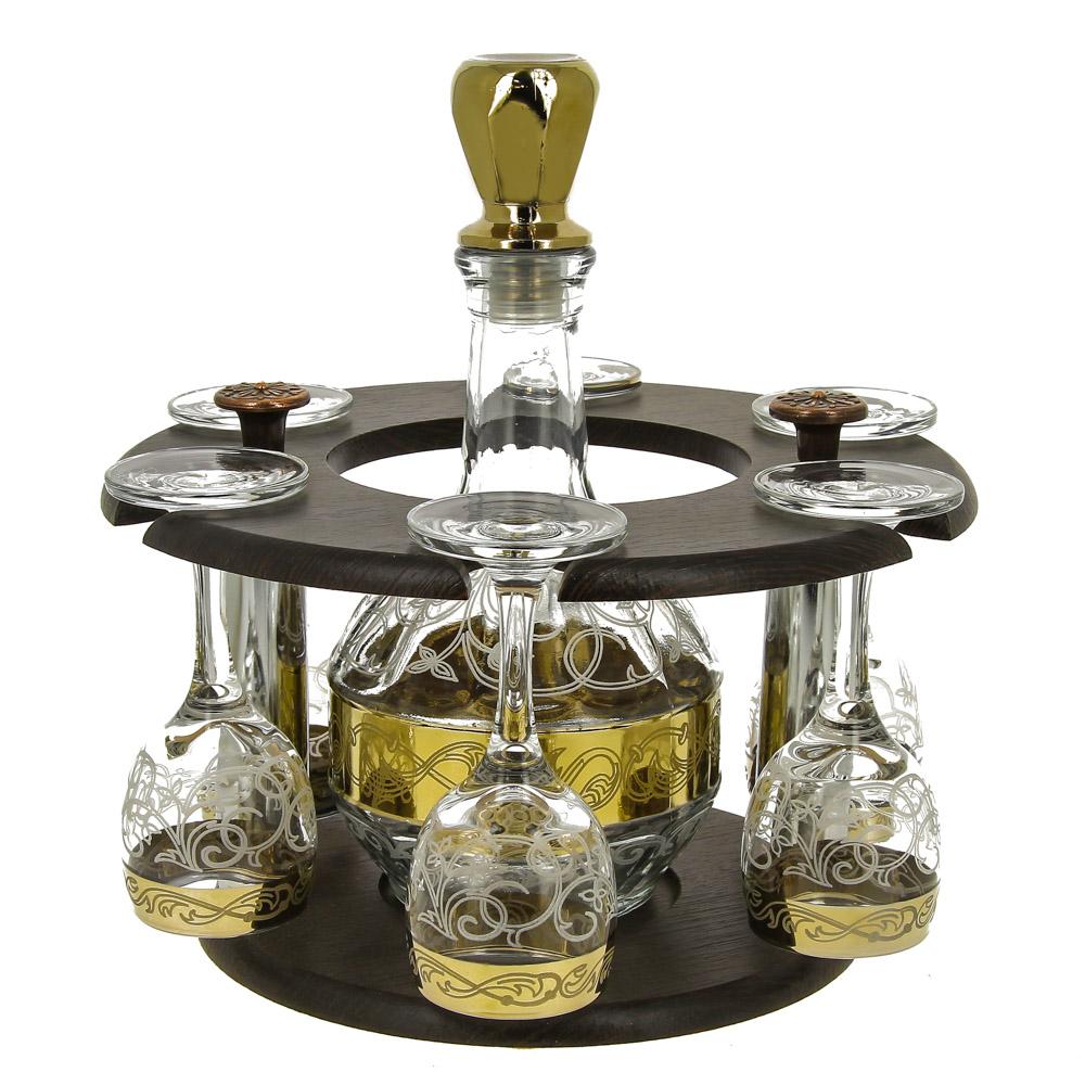 Графин Rich Line Home Decor Вечер воспоминаний 454, прозрачный, золотой рюмка бюро находок сними напряжение цвет прозрачный