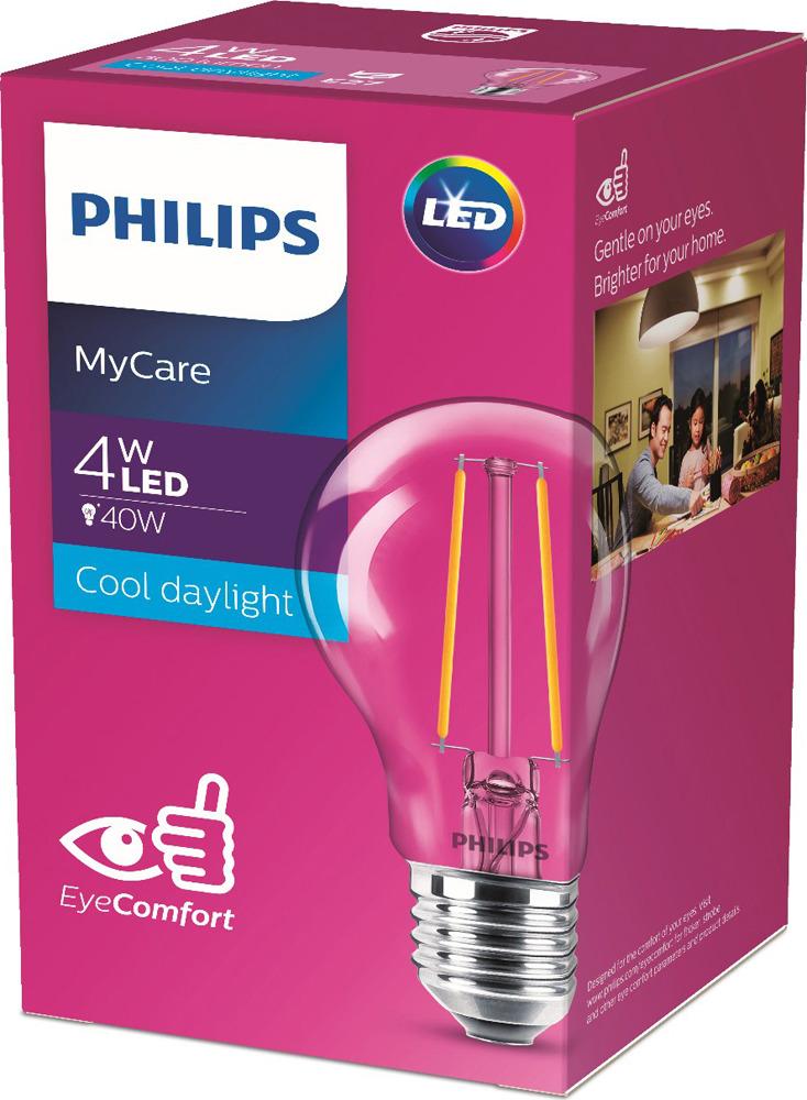 Лампочка светодиодная Philips LED Classic, 929001974808, цоколь E27, 4W, 6500K