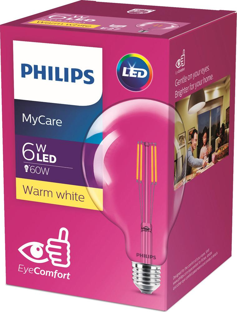 Лампочка светодиодная Philips LED Classic, 929001975108, цоколь E27, 6W, 3000K