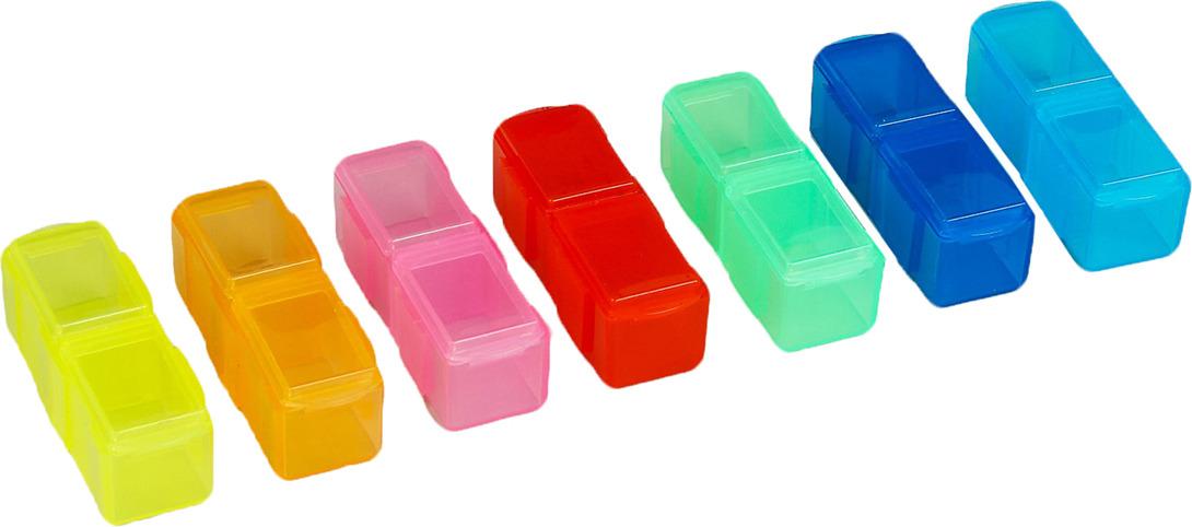 Набор контейнеров для рукоделия Радуга, 2290214, разноцветный, 7 шт набор шкатулок для рукоделия bestex 3 шт zw001250