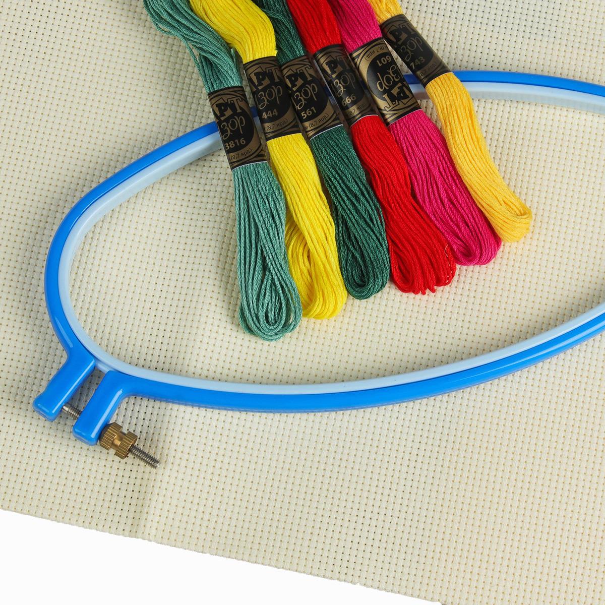 Набор для вышивания нитками, 3943610, 8 предметов все цены
