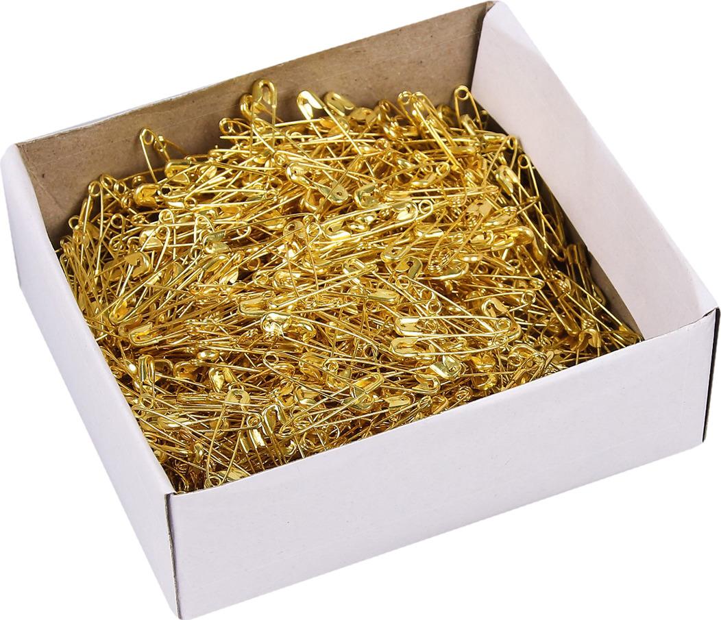 Булавка английская, 743931, золотой, 2 х 0,3 см, 2000 шт