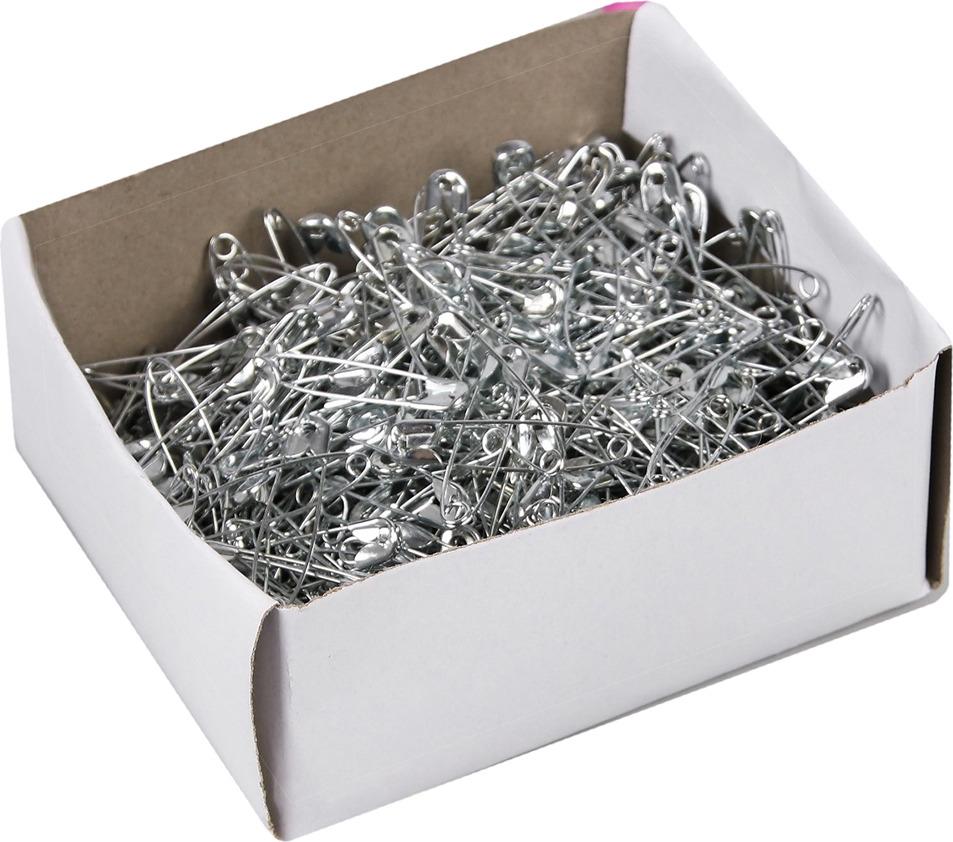 Булавка английская, 744664, серый металлик, 3,7 х 0,6 см, 1000 шт