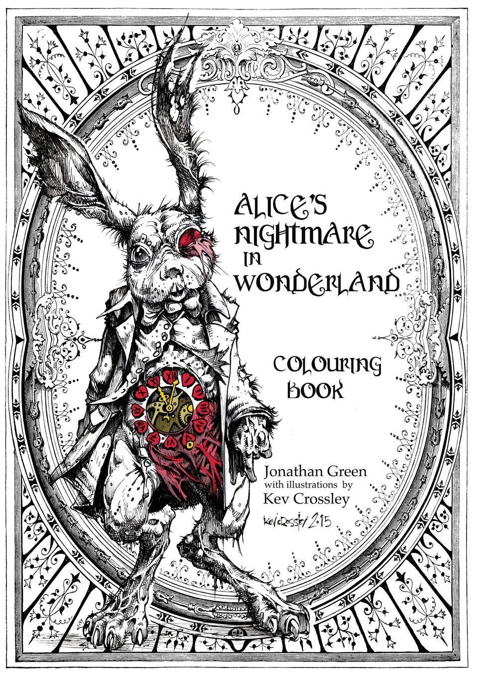 Jonathan Green Alice.s Nightmare in Wonderland Colouring Book mummy and me sticker colouring book
