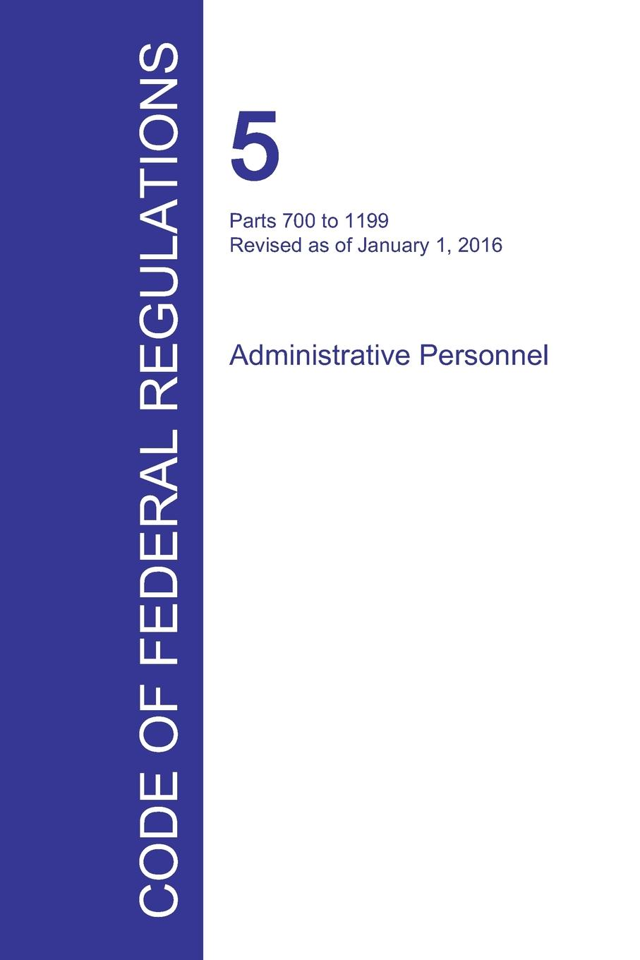 Code of Federal Regulations Title 5, Volume 2, January 1, 2016