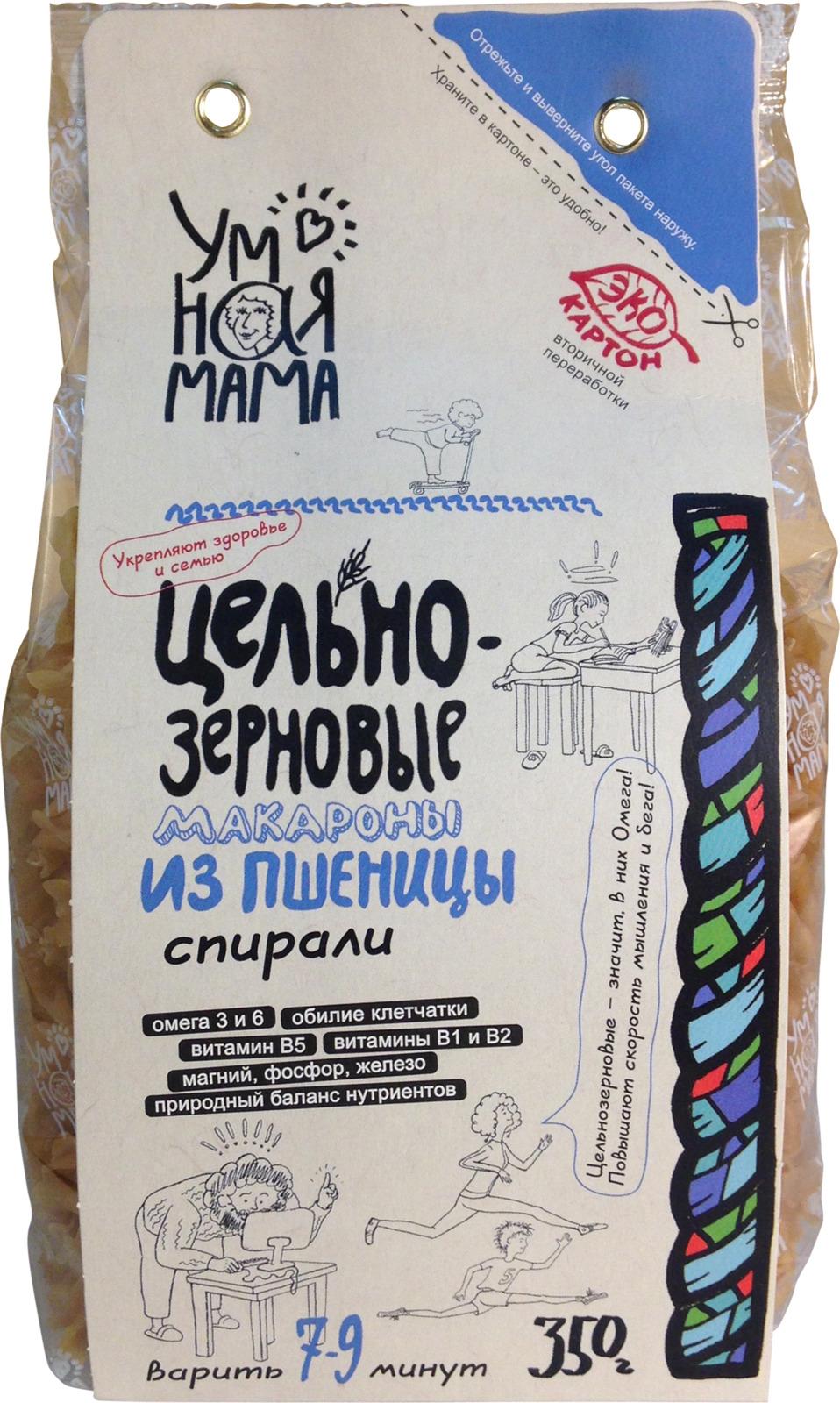 """Макароны пшеничные Умная мама """"Спирали"""", 350 г"""