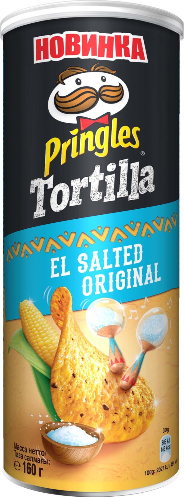 Чипсы Pringles Tortilla кукурузные с солью, 160 г чипсы salto томатный кукурузные 75 г соус 60 г