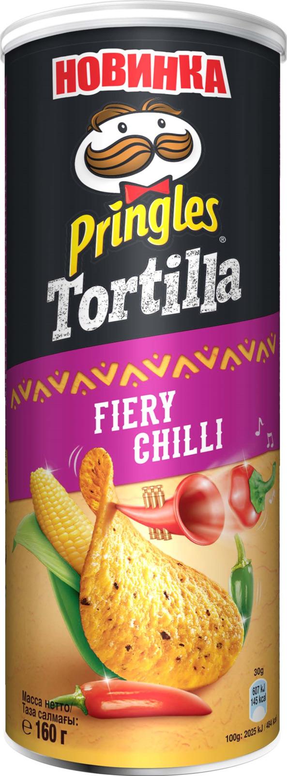 Фото - Чипсы Pringles Tortilla кукурузные со вкусом острого перца чили, 160 г pringles картофельные чипсы со вкусом краба 70 г