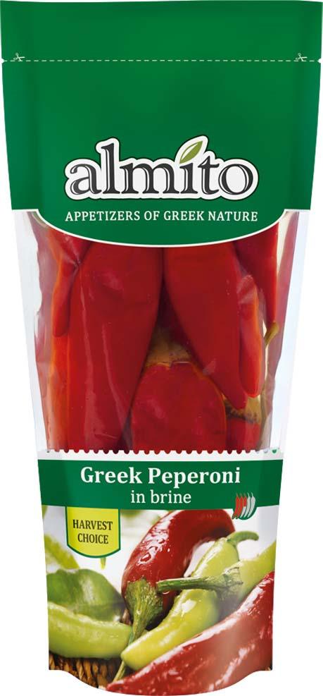 Овощные консервы Almito Греческий красный перец пеперони, маринованный, 250 мл