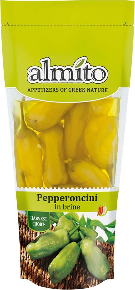 Овощные консервы Almito Греческий перец пеперончини, маринованный, 250 мл