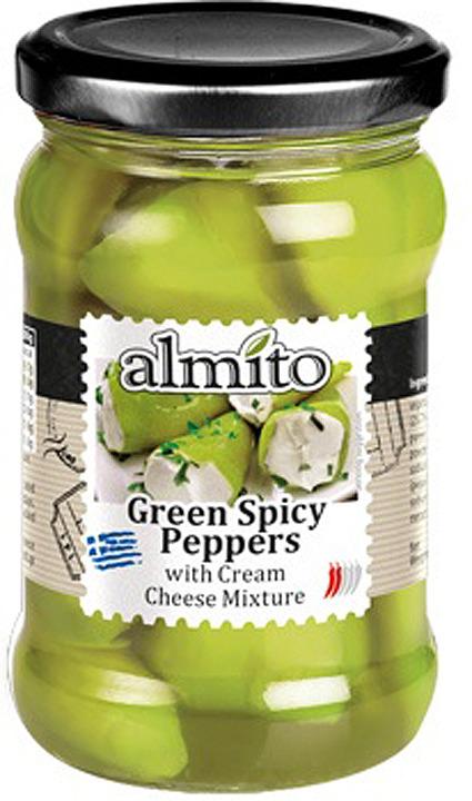 Овощные консервы Almito Греческий зеленый перец, с сыром, 320 мл