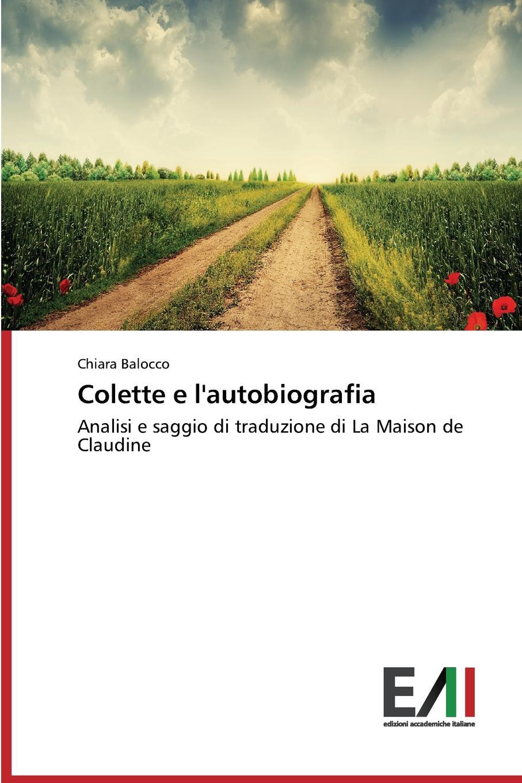 Balocco Chiara Colette E L.Autobiografia