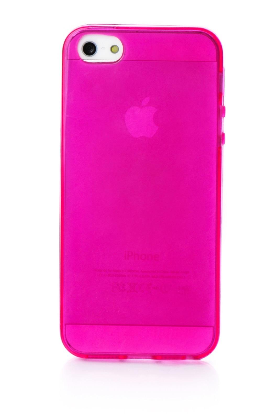 Чехол для сотового телефона iNeez накладка силиконовый глянцевый 400198 для Apple iPhone 5/5S/SE, темно-розовый
