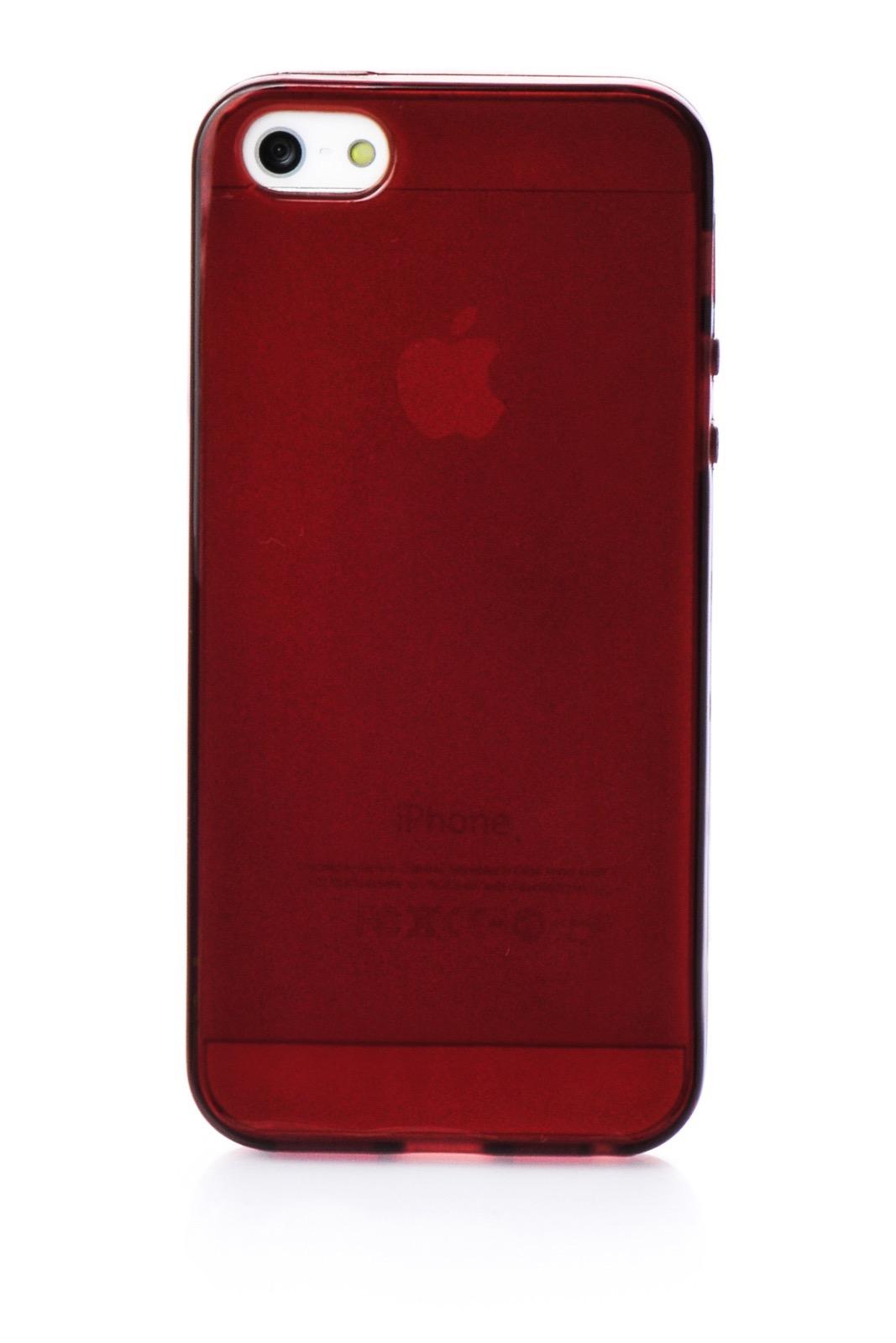 Чехол для сотового телефона iNeez накладка силиконовый глянцевый 400199 для Apple iPhone 5/5S/SE, коричневый