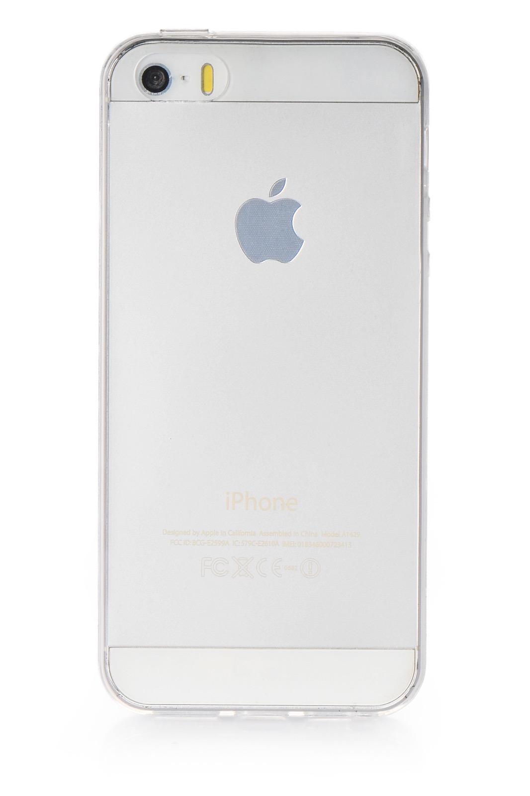 Чехол для сотового телефона iNeez накладка силикон ультратонкий для Apple iPhone 5/5S/SE, прозрачный