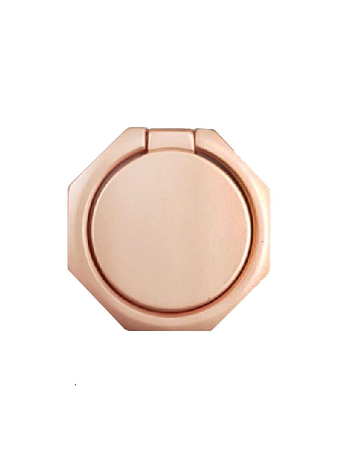 Фото - Кольцо-держатель для телефона UNIPHA Многоугольник, розовый видео