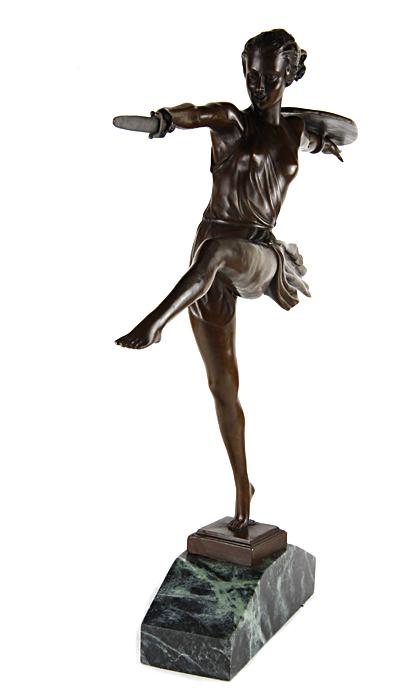 Статуэтка Антик Хобби Амазонка, бронза статуэтка руки и лица