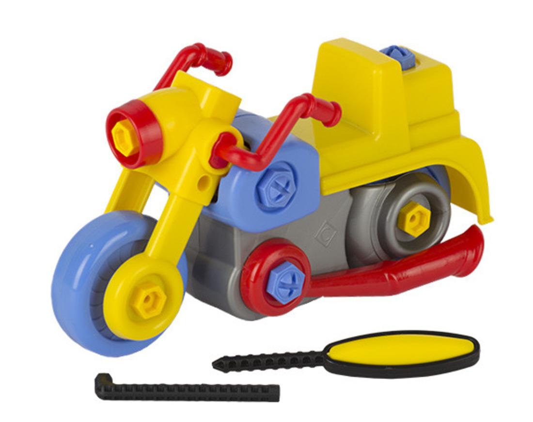 Развивающая игрушка Конструктор Стром Мотоцикл - Цвет Синий Желтый Красный Серый - 26 предметов