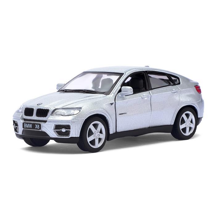 Машинка металлическая с открывающимися дверями модель BMW X6 модель машины автопанорама 1 43 bmw x6 белый открываются двери