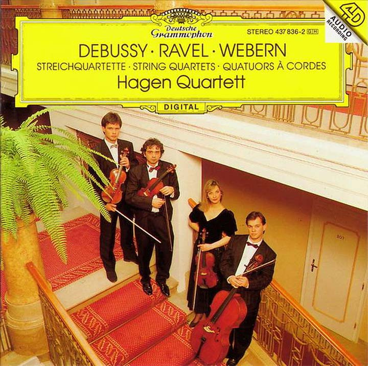 Hagen Quartett Maurice Ravel, Claude Debussy, Anton Webern. String Quartet. Hagen Quartett a reichel string quartet in c major op 8