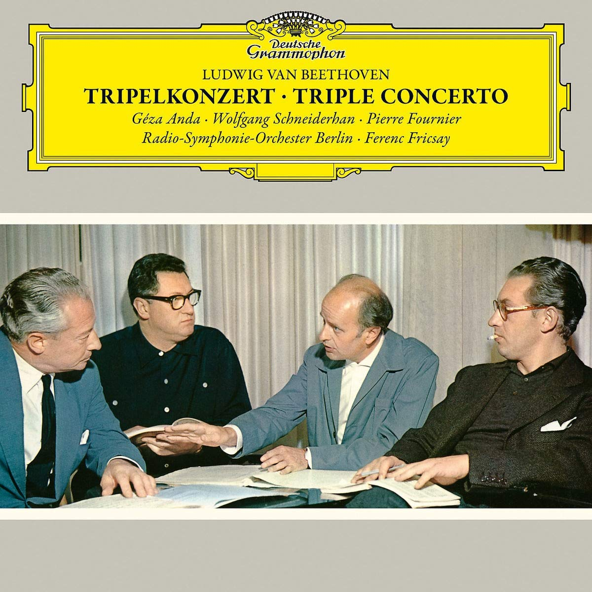 Anda, Schneiderhan, Fournier. Beethoven: Triple Concerto (LP) beethoven beethovenevgeny kissin recital 3 lp