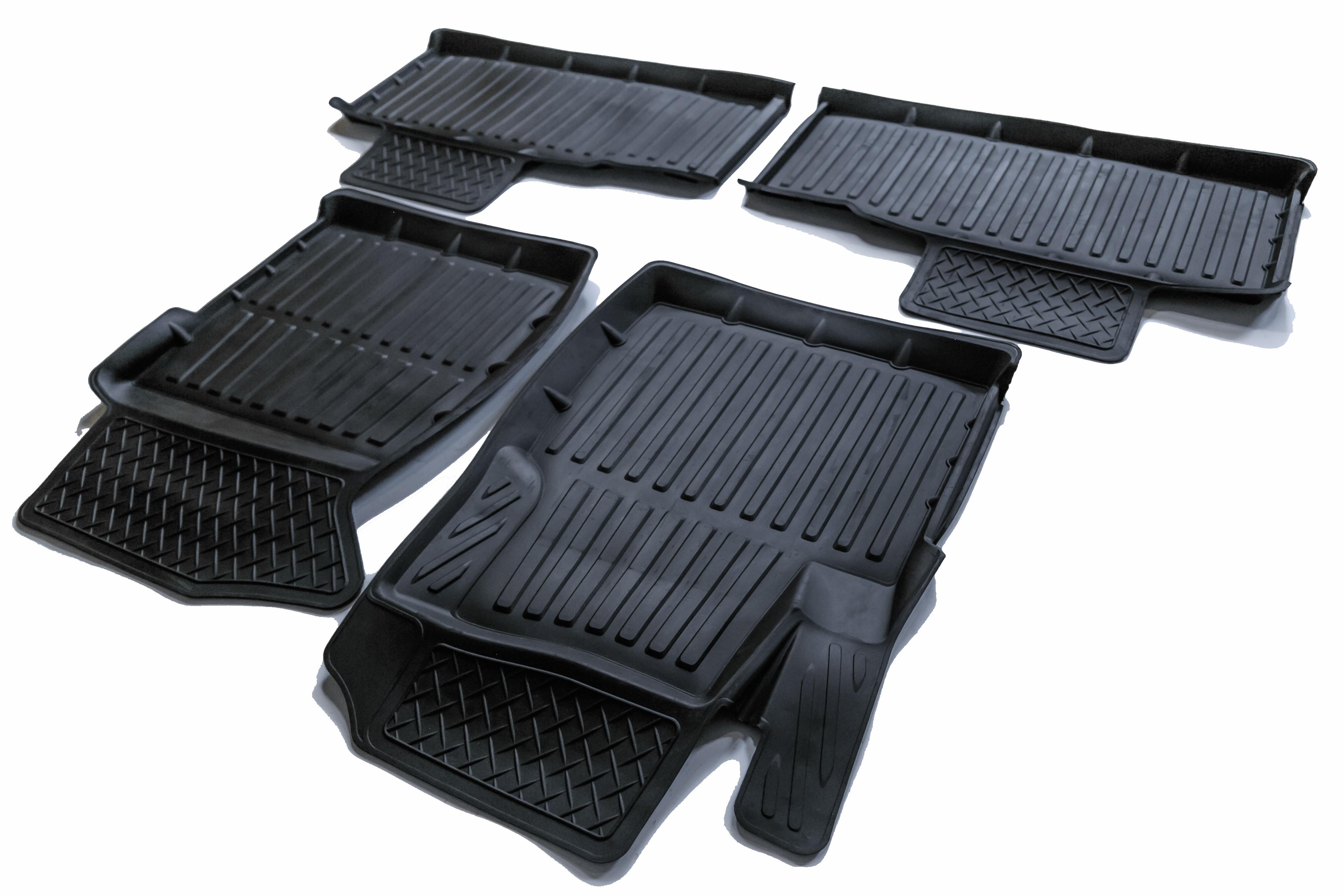 Коврики в салон автомобиля SRTK 3D STANDART, черный