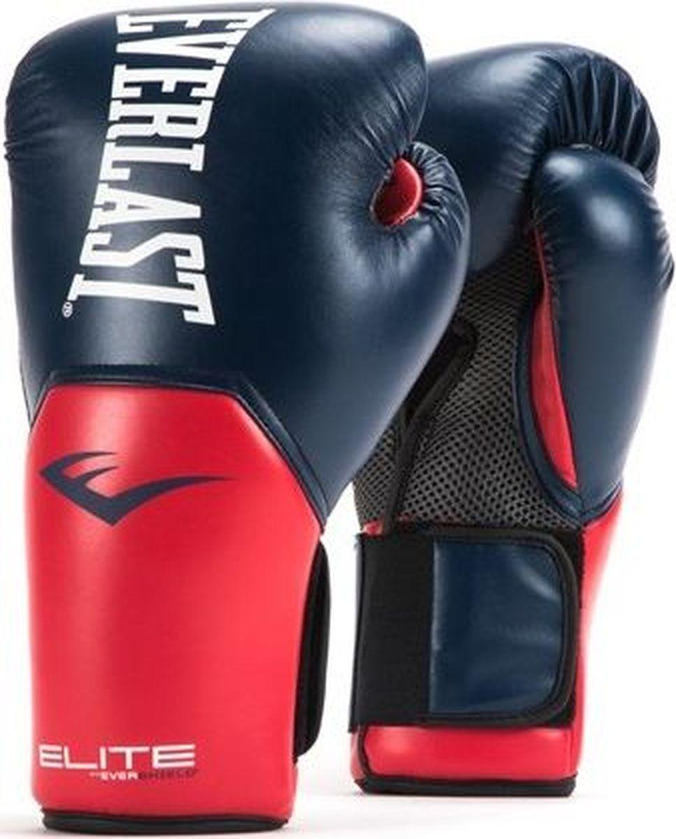 Боксерские перчатки Everlast Elite ProStyle, тренировочные, P00001203, синий, красный, вес 14 унций