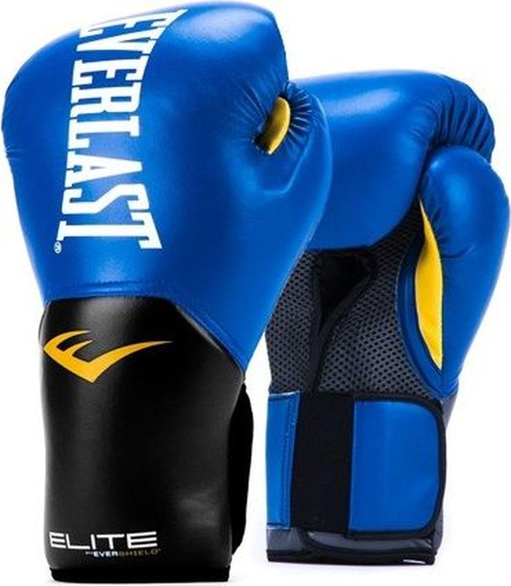 Боксерские перчатки Everlast Elite ProStyle, тренировочные, P00001205, синий, вес 14 унций