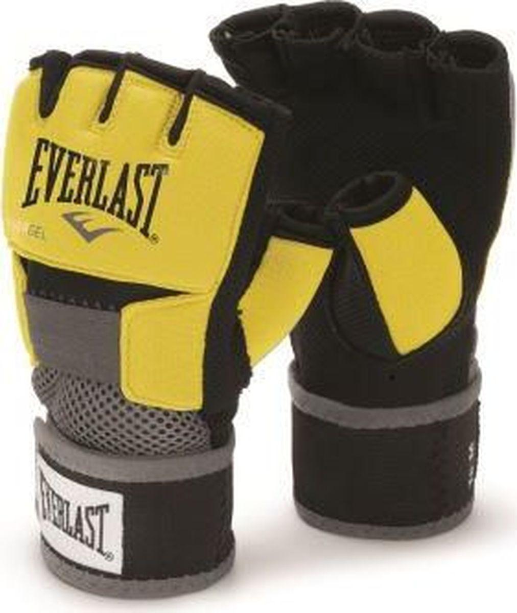 Боксерские перчатки Everlast Evergel, гелевые, 4355LU, желтый, черный, размер L
