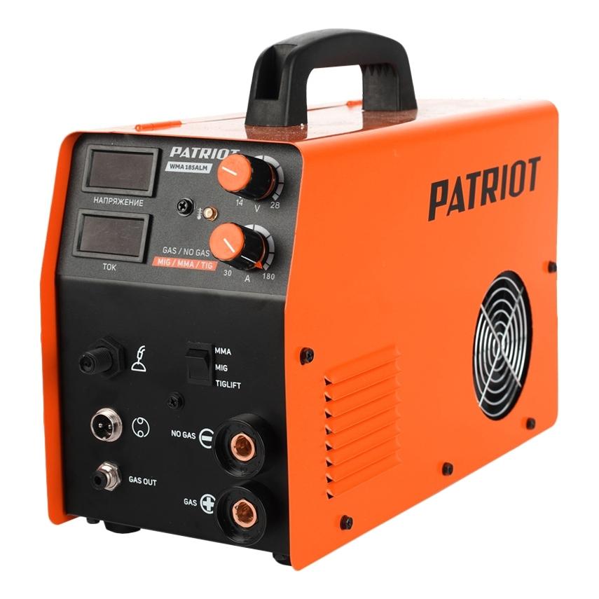 Сварочный аппарат PATRIOT WMA 185AL MIG/MAG/MMA сварочный аппарат ударник уис 180 10 180а пв 40% электрод 1 6 4мм 2 8кг
