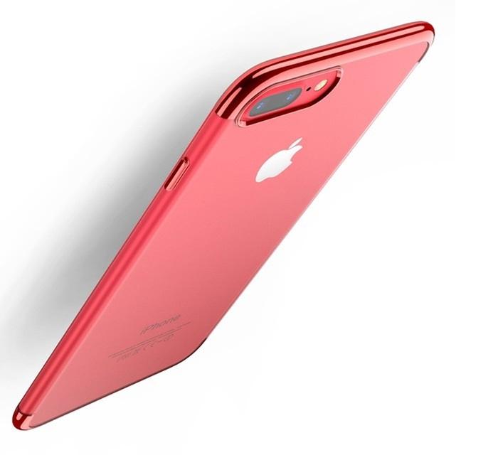 Чехол для сотового телефона Floveme для iPhone 8 (окантовка Flaming Red), красный недорого