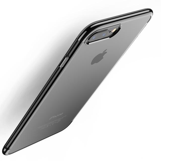 Чехол для сотового телефона Floveme для iPhone 8 (окантовка Grace Black), черный недорого