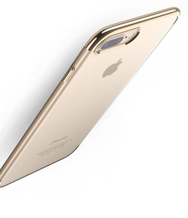 Фото - Чехол для сотового телефона Floveme для iPhone 8 (окантовка Luxury Gold), золотой накладка lp клетка с полосками для iphone 7 золотой 0l 00029551