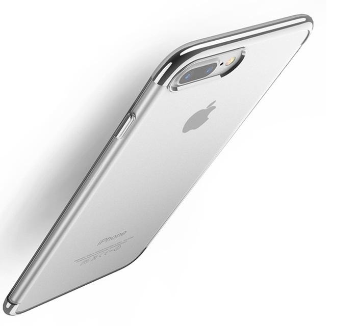 Чехол для сотового телефона Floveme для iPhone 8 (окантовка Moonlight Silver), серебристый недорого