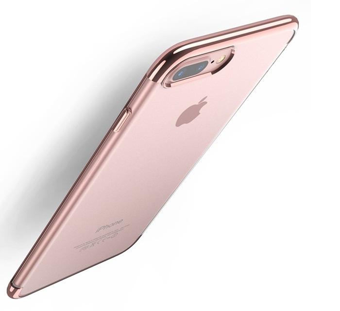 Чехол для сотового телефона Floveme для iPhone 8 (окантовка Rose Gold), розовый недорого