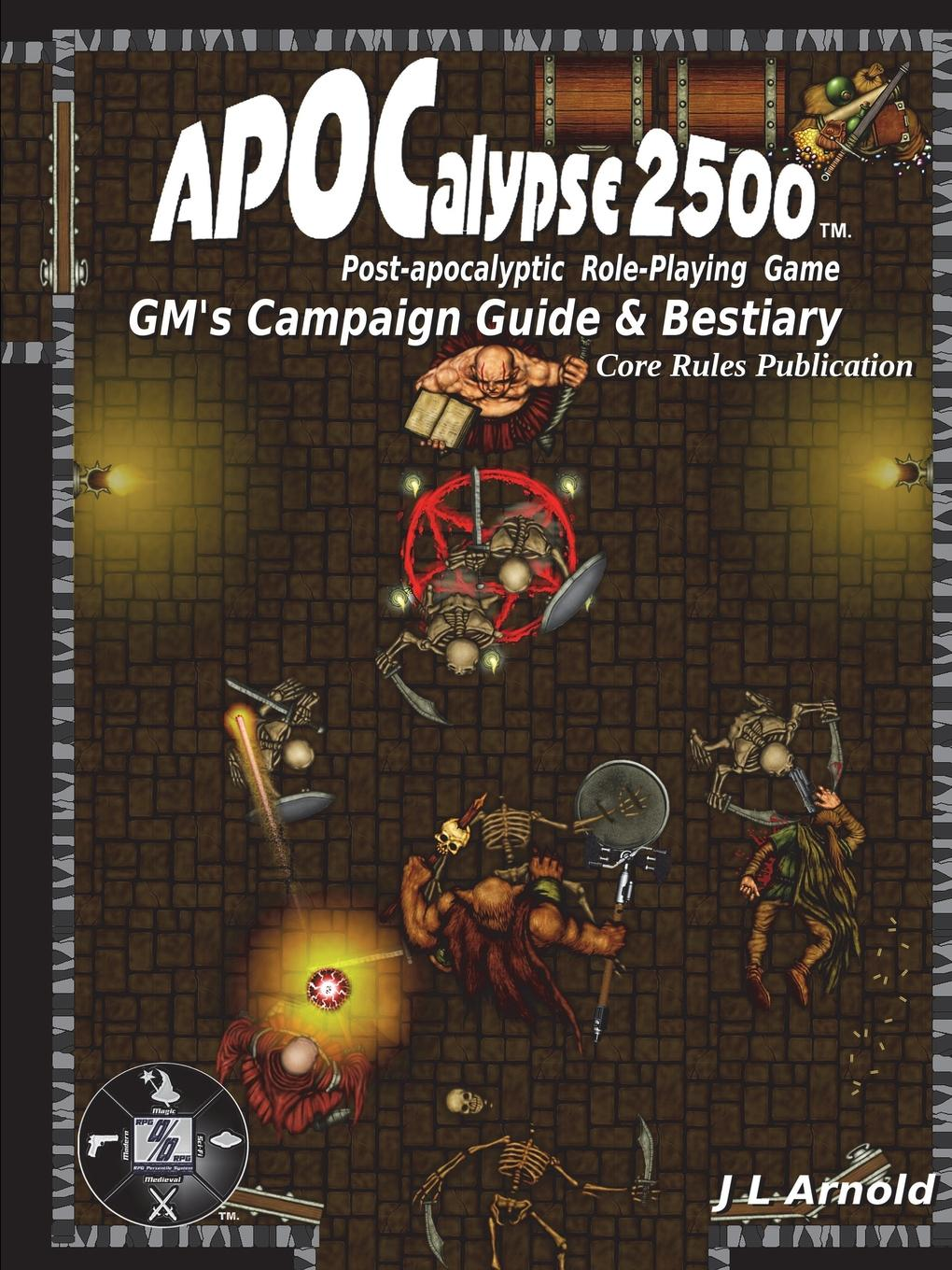 J L Arnold APOCalypse 2500 GMOs Campaign Guide . Bestiary game controller gamepad and trigger shooter aim key gaming assist tools kit