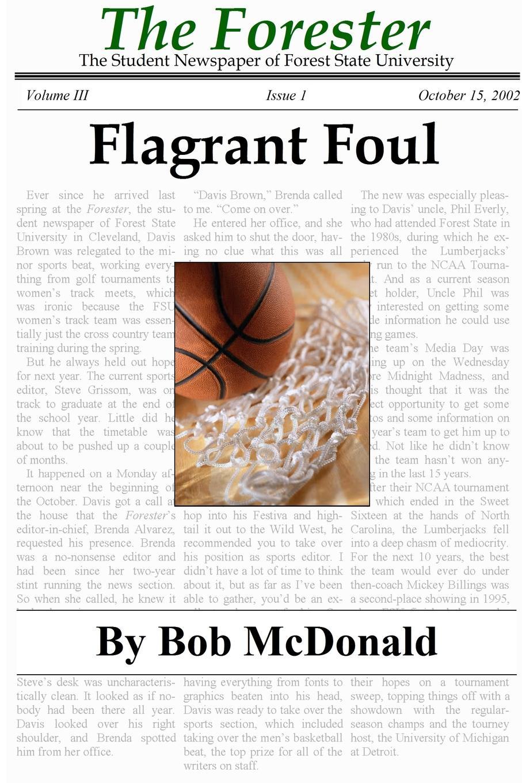 Bob McDonald Flagrant Foul foul play at the fair