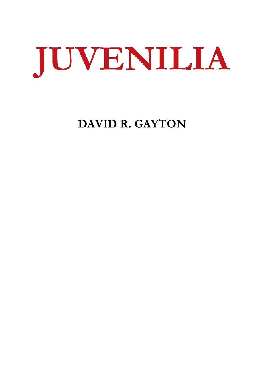 DAVID R. GAYTON JUVENILIA david c mcclelland the achieving society
