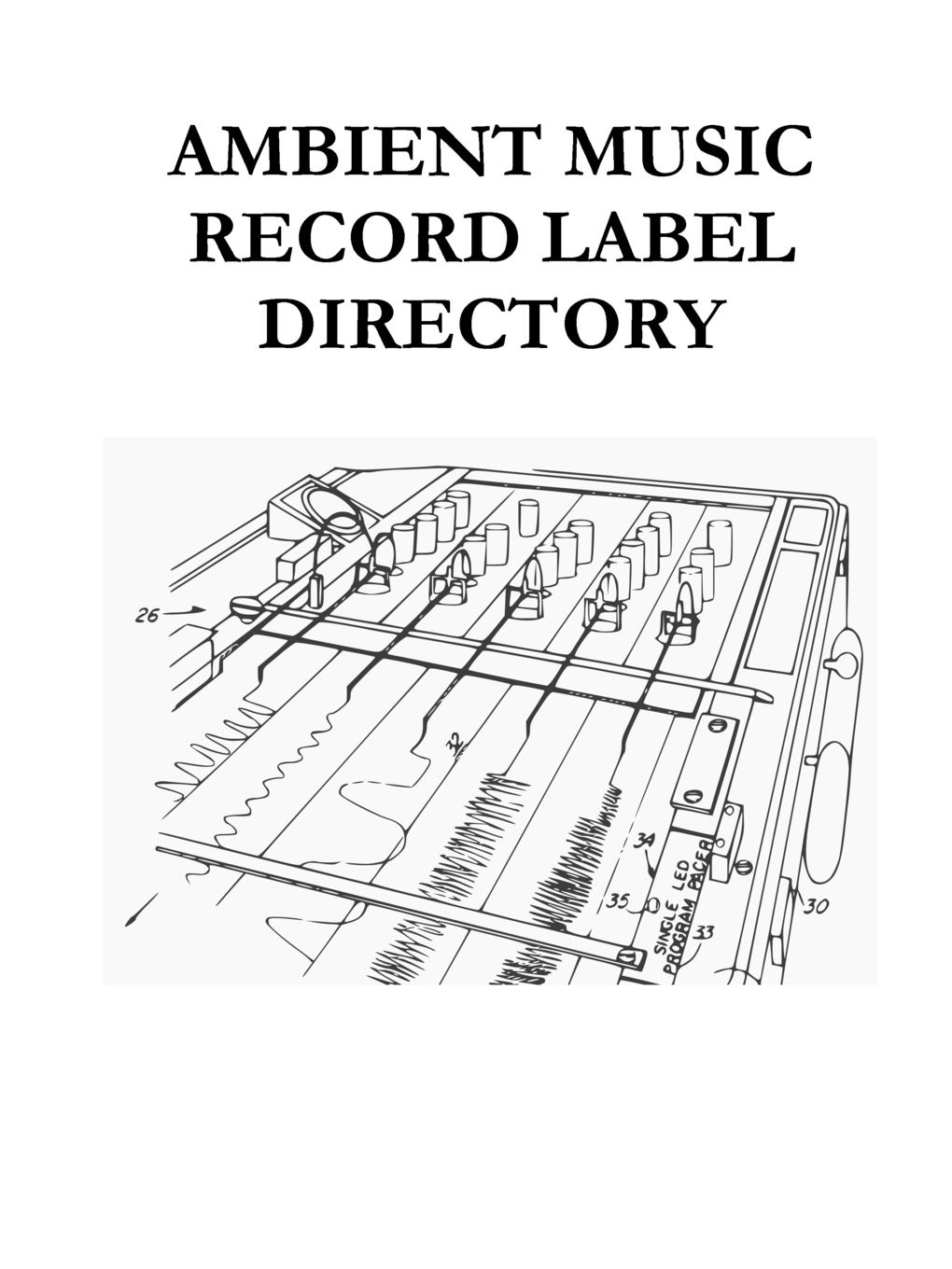 Adrian Harward Ambient Music Record Label Directory