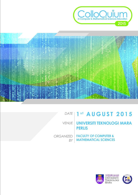 Tajul Rosli Razak, Mohammad hafiz Ismail, Alif Faisal Ibrahim CCSME 2015 Proceedings faisal kawusi bielefeld